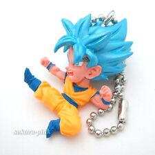 Son Goku Super Saiyan Blue DragonBall 25 mini Figure Key Chain Authentic BANDAI