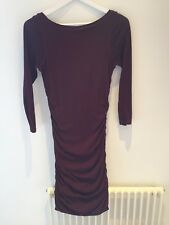Rugby by Ralph Lauren Burgundy Bodycon Ruched Dress Size Small