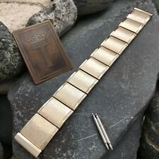 """17.25mm 11/16"""" 10k Gold-Filled Hamilton Mid-Century 1950s Vintage Watch Band"""