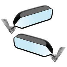 2x New Universal Retro Car Rearview Side Mirror Craft Square F1 Style w/Blue