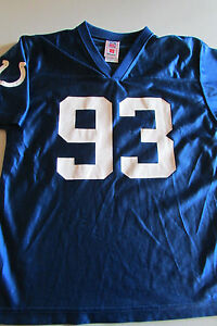 Youth Large (14-16) NFL Indianapolis Colts #93 FREENEY Blue Jersey By Reebock