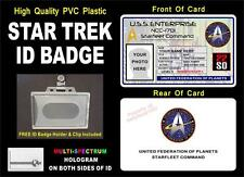 STAR TREK ID Badge / Card (STARFLEET COMMAND) Customizable w/ Your Photo & Info