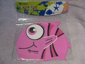 Wave Pink Child's Character Swim Cap No Snag Silicone Comfort Fit Ages 3 to 6