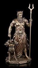 Hades Figur - Totengott mit Zweizack und Kerberos - Veronese Gott der Unterwelt