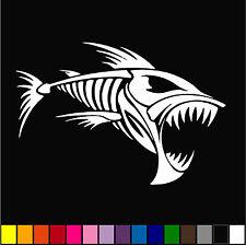 Skeleton Fish Bones #4 Vinyl Decal Sticker Kayak Fishing Car Truck Boat Tribal