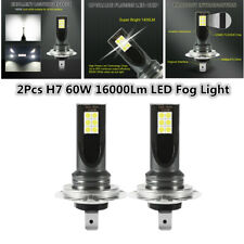 2x H7 LED Fog 60W 6000K Headlight Lights Kit 16000LM Car Bulbs Driving DRL Lamp