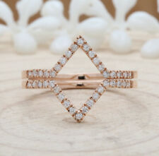 Solid Rose Gold Ring Engagement Ring Kd570 Ring Cover Natural Round Diamond 14 K