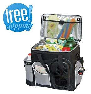 Soft Bag Cooler Portable Car Fridge Electric 12v Travel Truck Camping Food