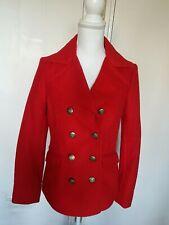 Laura ashley Red Military Style Jacket Size UK 8 Stunning!