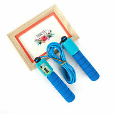 Kids Exercise Skipping Rope w Counter Soft Foam Handles 2.4m Rope-Blue/Lightblue