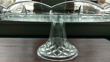 GORGEOUS! - 24% Lead Crystal Pedestal Cake Stand Scalloped Edge - Czech Republic