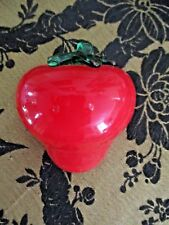 Murano Style  Heavy Glass Retro Collectable Strawberry Pear Fruit