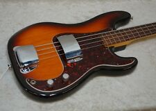 1995 USA Fender Precision P-bass fretless electric bass guitar sunburst & case