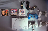 Sony PlayStation 1 PS1 - SCPH-1001 - Tested - Complete - Bundle!