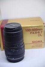 SIGMA 100-300 mm f/4.5-6.7 DL objectif zoom + capuche en boîte pour Canon EOS Caméra DSLR