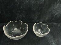 "Beautiful Vintage Dartington glass Small & Medium Bowls 5.5"" & 4"""