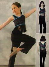 Radio Wave Dance Costume Glitz Crop Pants Fringe Top Tap Clearance Adult Small