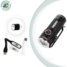 NEBO Torchy Rechargeable Flashlight & USB Wall Adapter and 2 USB LED Light Lamps