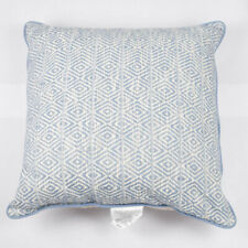 Target Threshold Large 24 x 24 in Decorative Throw Pillow Blue Diamond Geometric