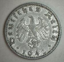1942 F Aluminum German 5o Reichspfennig Third Reich Nazi Germany Coin VF