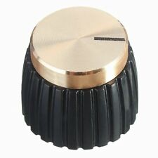 10x Guitar AMP Amplifier Knobs Push-on Black+Gold Cap for Marshall Amplifie Y6W6