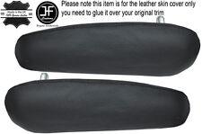 BLACK STITCH 2X SEAT ARMREST COVERS FITS PEUGEOT PARTNER CITROEN BERLINGO 08-15