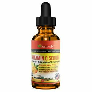 Super Vitamin C Serum + Hyaluronic Acid + Vitamin E - All Skin Types Made in USA