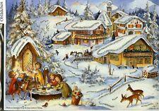 # SELLMER Adventskalender # Nr. 65 Bergdorf, Engel am Brunnen mit GLIMMER