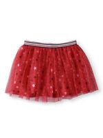 NEW Girls America Star Red White & Blue Glitter Mesh Tulle Skirt Large 10-12