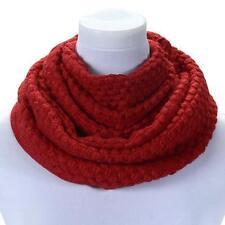 UK Women Ladies Winter Warm Scarves Scarf Wraps Knit Neck Circle Cowl Snood
