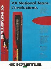 X1875 VX National Team - KASTLE - Pubblicità del 1994 - Vintage advertising