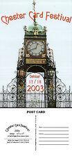2003 CHESTER CARD FESTIVAL MINT ADVERTISING POSTCARD