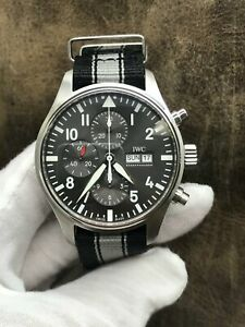 IWC Pilots Spitfire Chronograph IW377719 Rhodium Dial Automatic Men's Watch