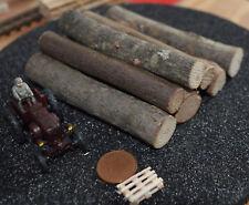 Ladegut Holz, Stämme Naturholz ca. 80 mm lang Ø 11,00 - 15,00 mm, 10 Stück
