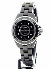 Chanel J12 Black Ceramic 29mm Quartz Diamind Dial H2569
