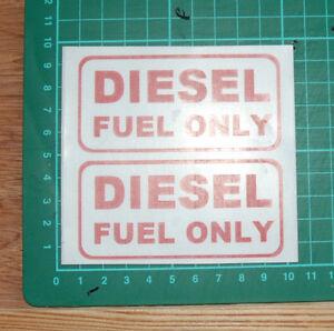 DIESEL FUEL Warning Sticker/Decal x2 ***FREE POSTAGE***