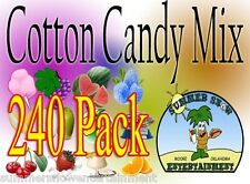 240 Pack Cotton Candy Mix With Sugar Flavoring Flossine Flavored Floss Concession