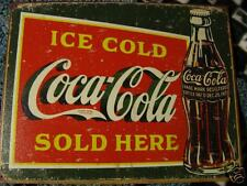Tin Sign- Ice Cold Coca Cola Sold Here