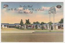 De Luxe Motel US 101 Santa Maria California linen postcard