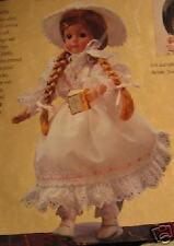 "Nib Home Interior Hol Faith Porcelain Doll 16"" H Nla Ht"