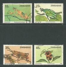 Zimbabwe 1988 Local Insects--Attractive Topical (556-59) fine used