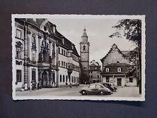 Ansichtskarte Erfurt - Platz der DSF, PkW IFA F9, Echtfoto DDR 1957