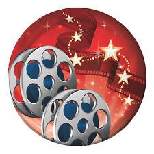 8 x film di Hollywood Party Piatti di carta stoviglie Red Carpet Luci Fotocamera Azione