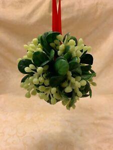 Vintage Christmas Mistletoe Ball