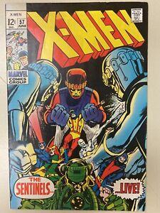 THE X-MEN #57 (1963 Series) SENTINELS POLARIS HAVOK LARRY TRASK