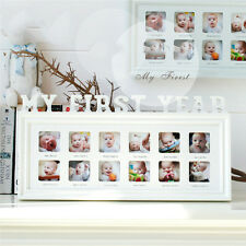 Baby's First Year Picture Frame Wall Hanging Decor Photo Frame Density Board