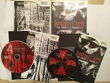 2x NINTENDO Wii GAMES RESIDENT EVIL THE UMBRELLA CHRONICLES & 4 Wii EDITION PAL