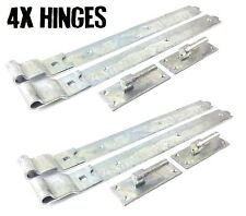 """4x Gate Hinges Cranked 900mm 36"""" Pair Galvanised Heavy Duty Hook And Band Stable"""