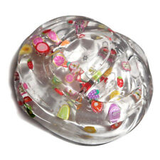 Hot Sales Clear Crystal Kawall Slime Cute Fruit Salad Fimo putty Kids Gift Toys