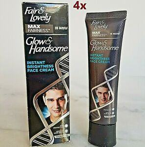 4X Fair And Lovely Men Max Fairness Glow Handsome Cream Face Lightening Male